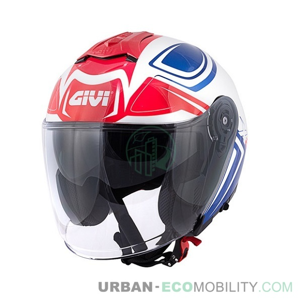 Casque X.22 Planet Hyper Blanc / Bleu / Rouge - GIVI